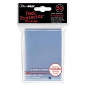 50 Protections Individuelles de Carte Ultra.Pro - Transparent