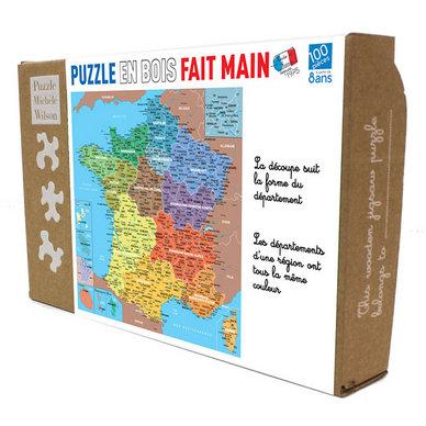 Puzzle Michèle Wilson - Carte de France des Départements 100 P