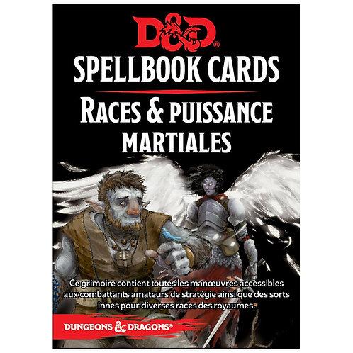D&D : Spellbook Cards : RACES & PUISSANCE MARTIALES  FR