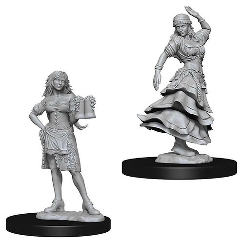D&D Figurines BARTENDER/DANCING GIRL