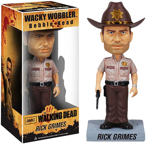 Figurine Bobble Head Rick Grimes - The Walking Dead