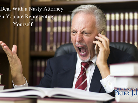 Dealing with a Nasty Attorney When You are Representing Yourself
