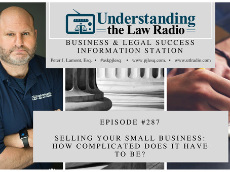 #287 UTLRadio - Selling Your Small Business: How Complicated Does it Have to Be?
