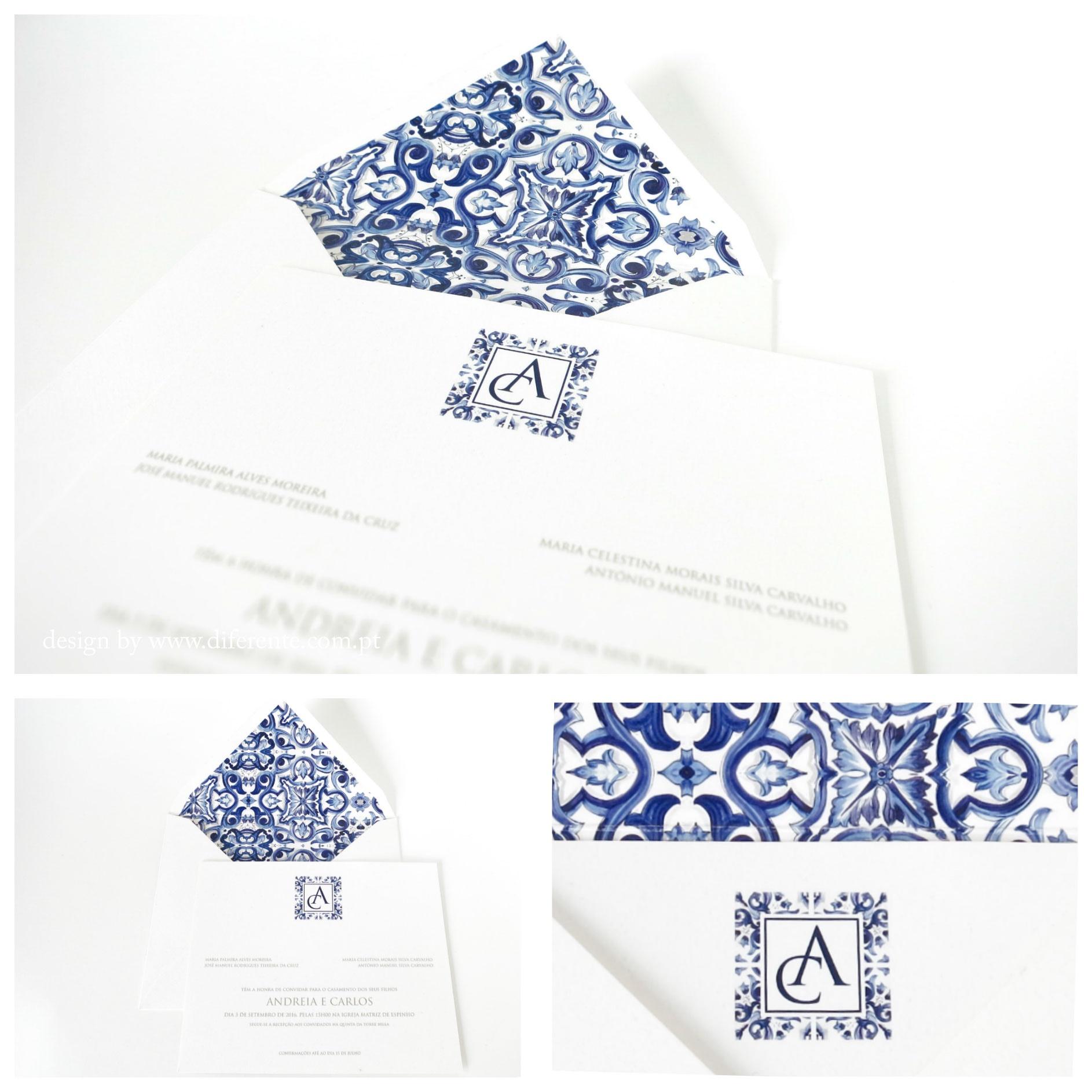 Themed wedding invitation