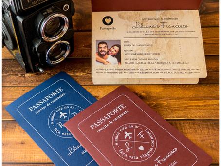 Convite de Casamento - Passaporte 3