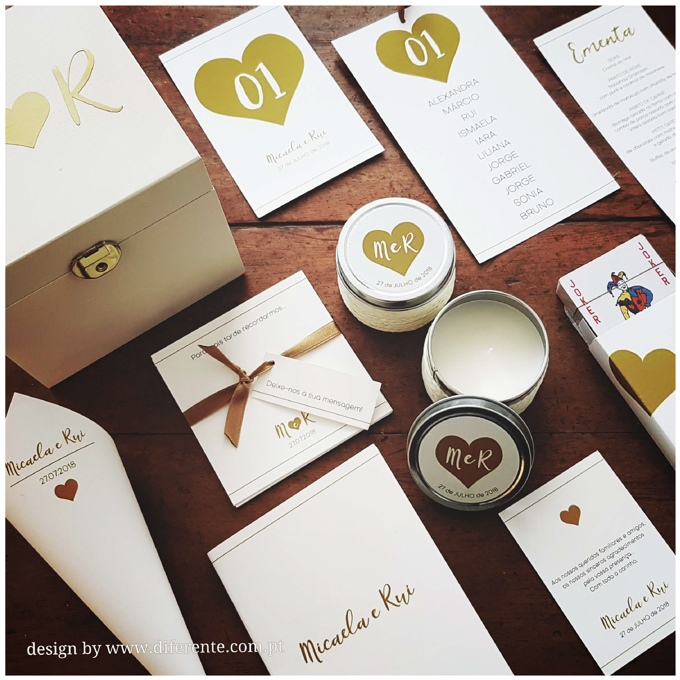 Golden Heart - Stationery