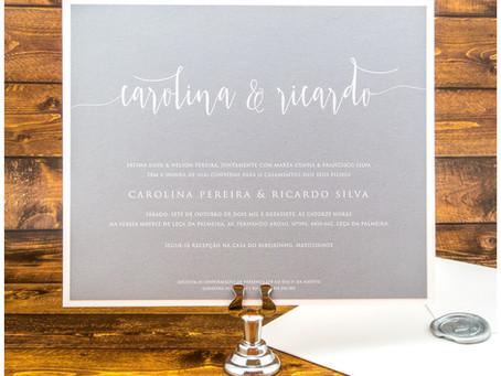 Convite de Casamento - Light Grey