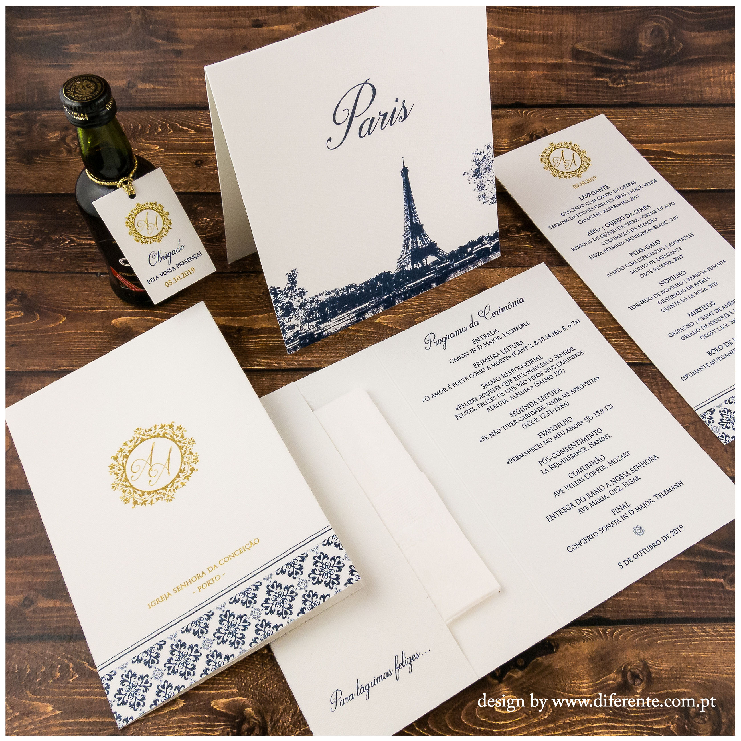 Blue & Gold - Stationery