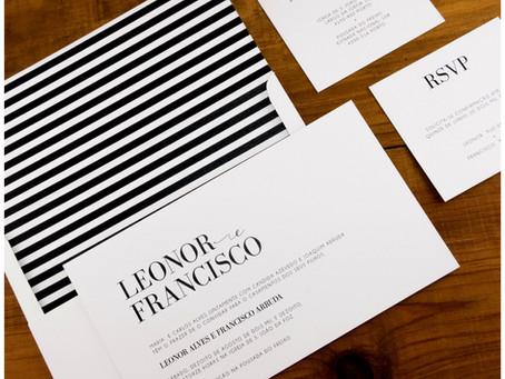 Convite de Casamento - Stripes