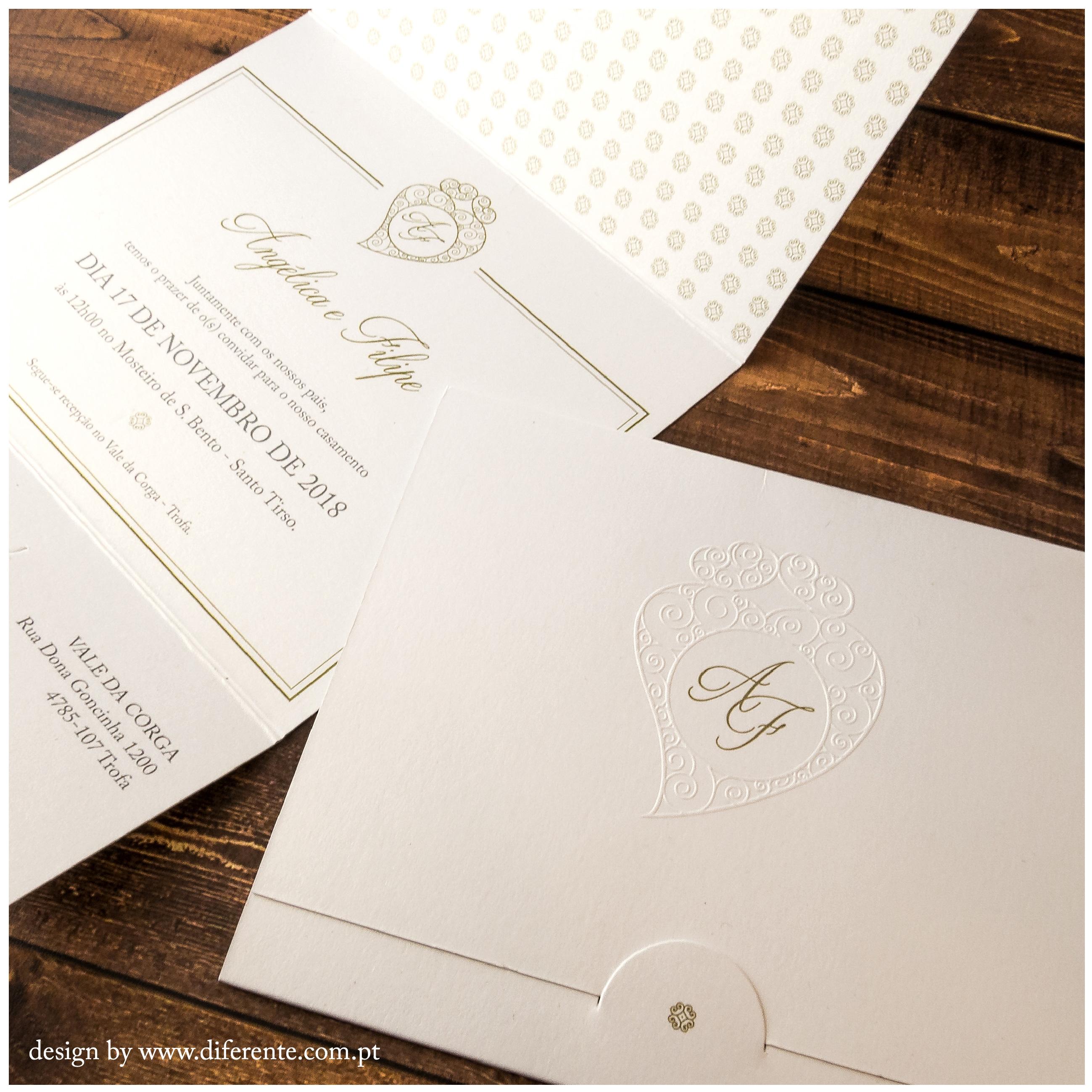 Classic wedding invitation