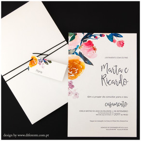 Convite de Casamento - Peach