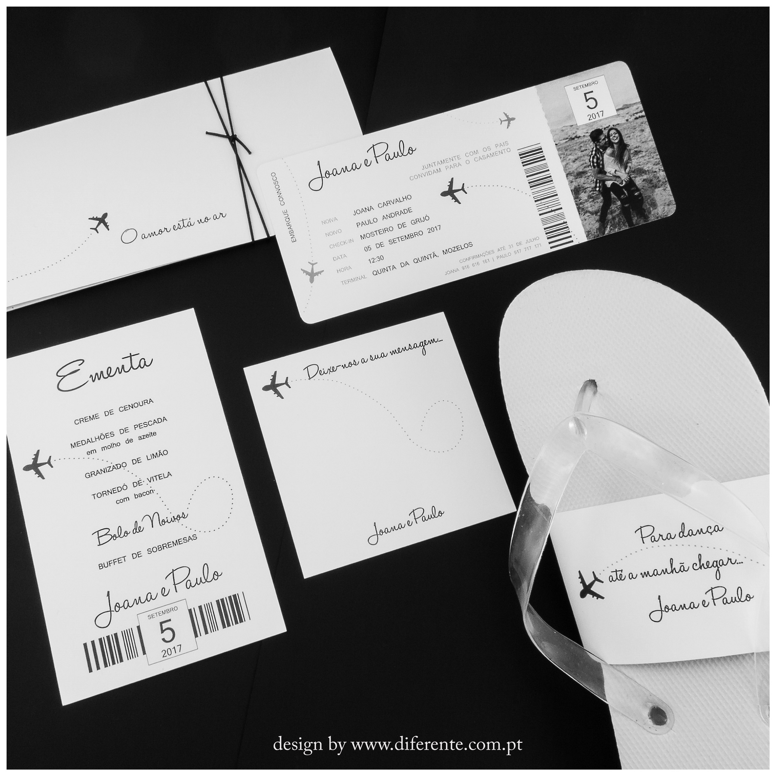 White Ticket - Stationery