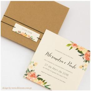 Convite de Casamento - Flower Kraft
