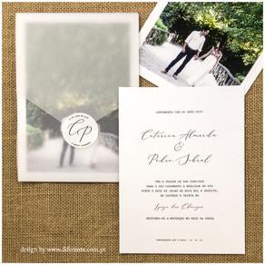 4 exemplos de convites de casamento modernos para se inspirar!
