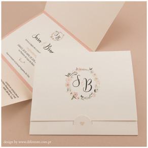 Convite de Casamento - Pink Flower