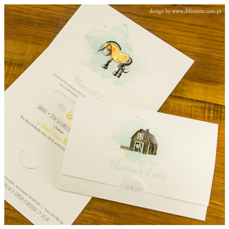 Convites de Batizado ou Comunhão