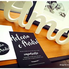 Convite de Casamento - Black