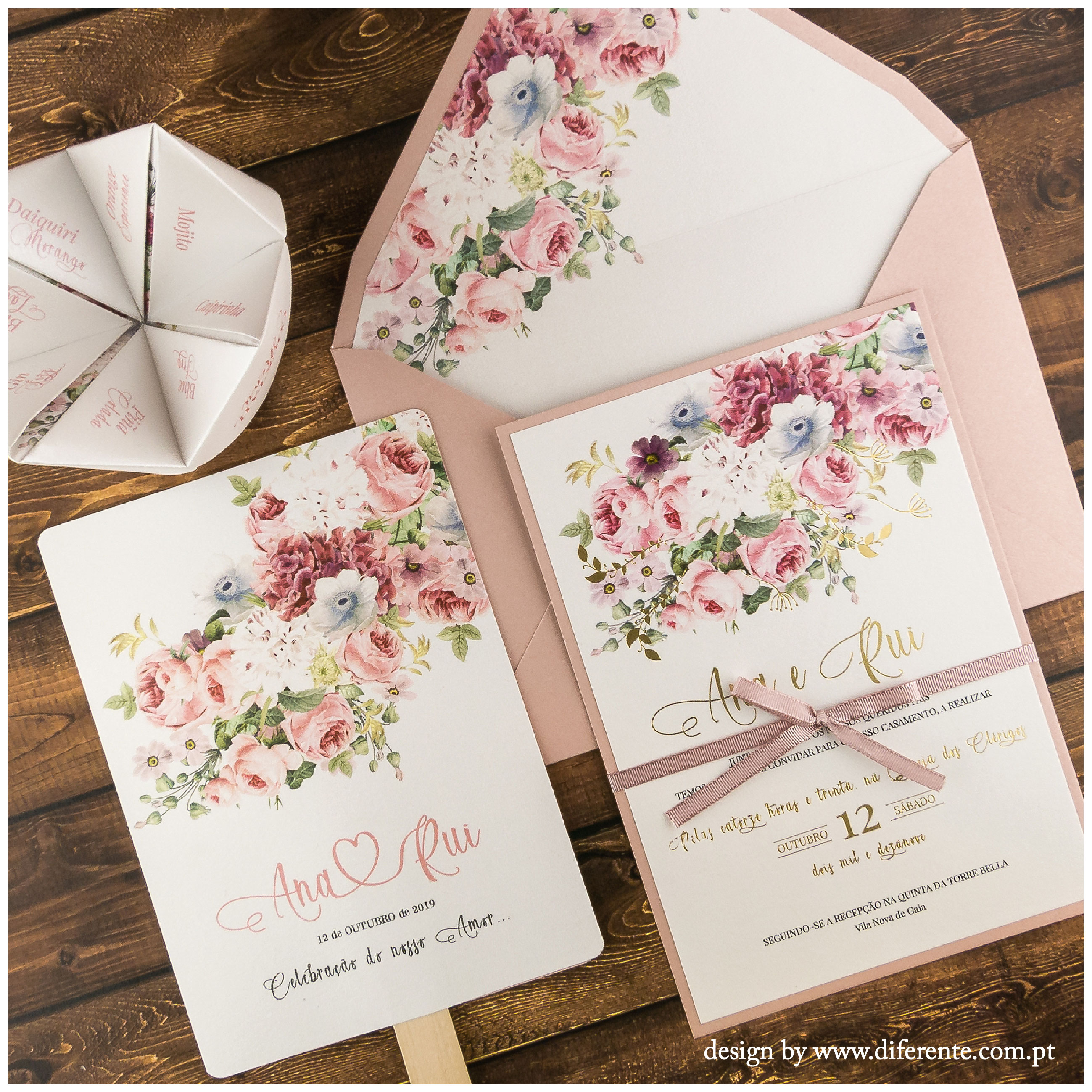 Golden Flower - Stationery