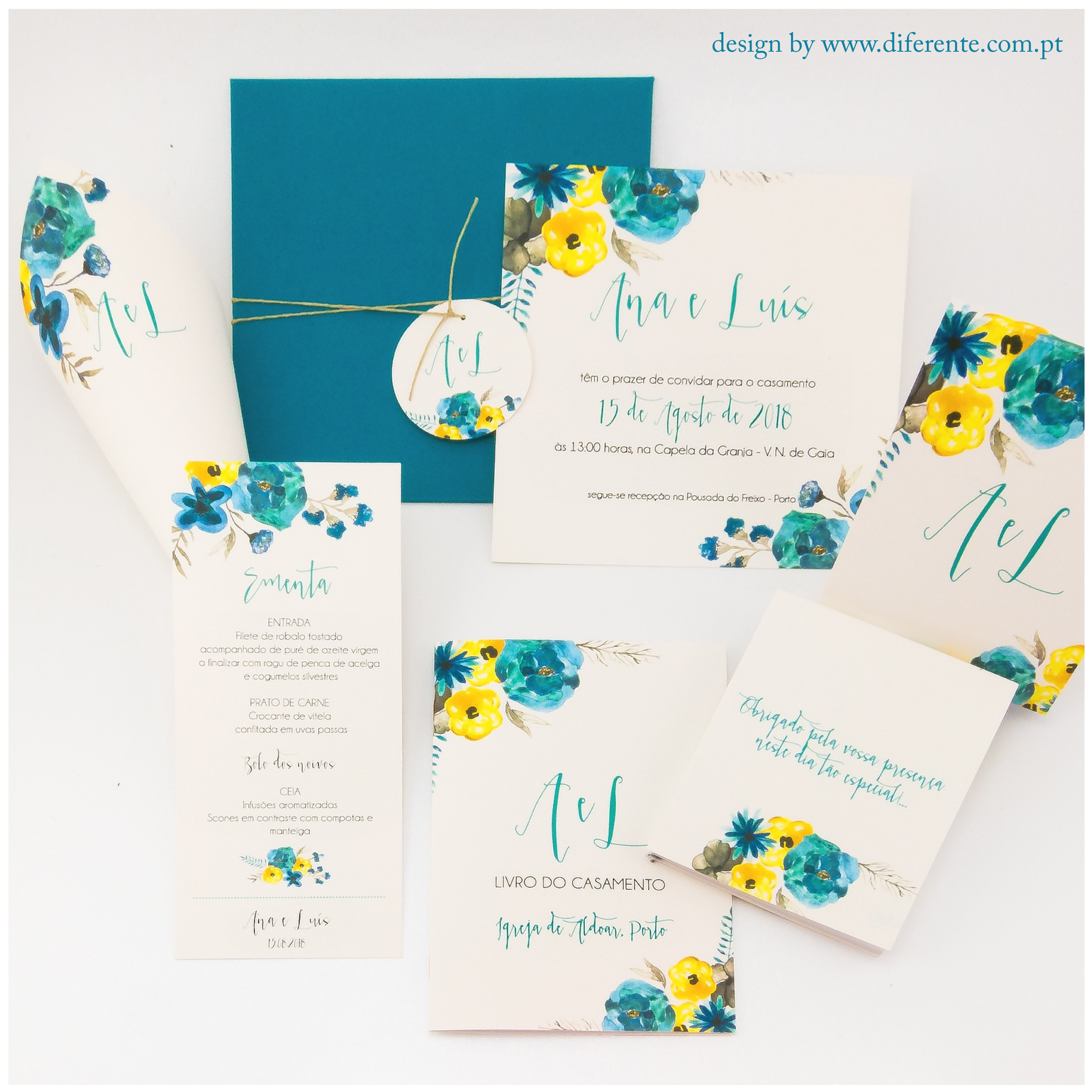 Blue Flower - Stationery