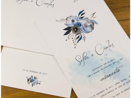Convite de Casamento - Aquarela