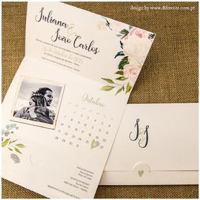 Como fazer e o que incluir em convites de casamento florais!