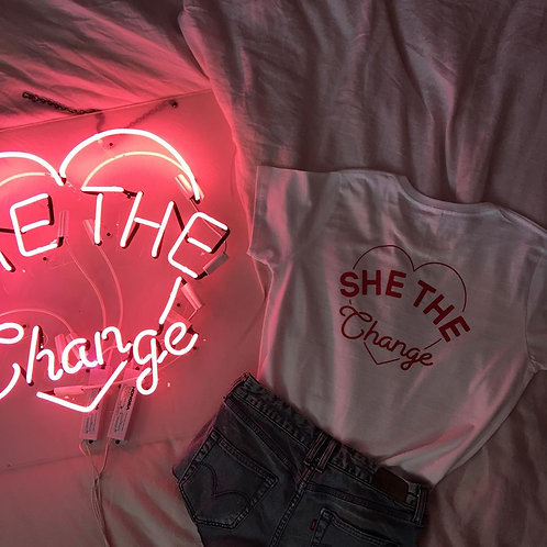 She The Change Logo Back Tee