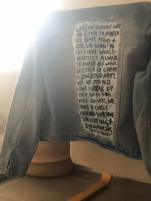 We are the radical dreamers - Handpainted Jacket