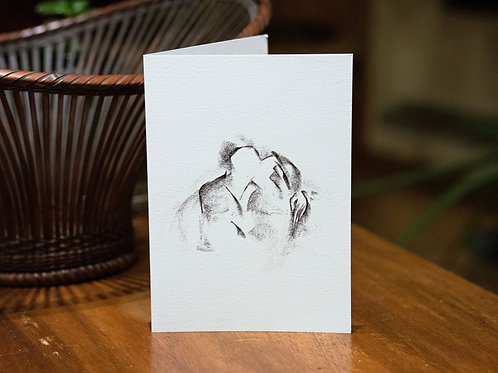 "4 Folded cards ""Lovers"""