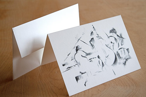 4 Folded cards Musicians