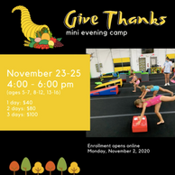 """Give Thanks"" Mini Evening Camp"