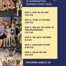 SUMMER CAMP WEEKLY THEMES!