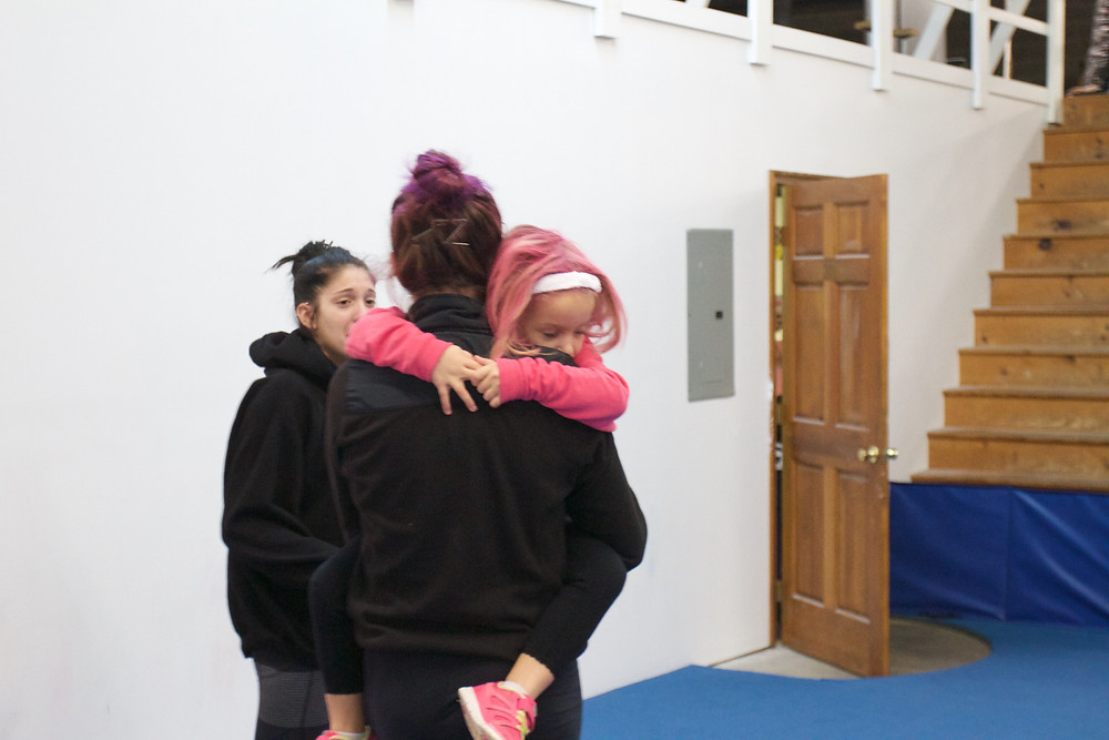 Honeycomb gymnast Libby dressed as her favorite JK Coach