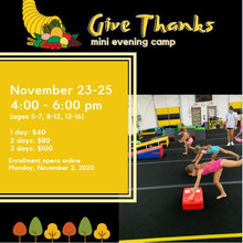 """""""Give Thanks"""" mini evening camp"""