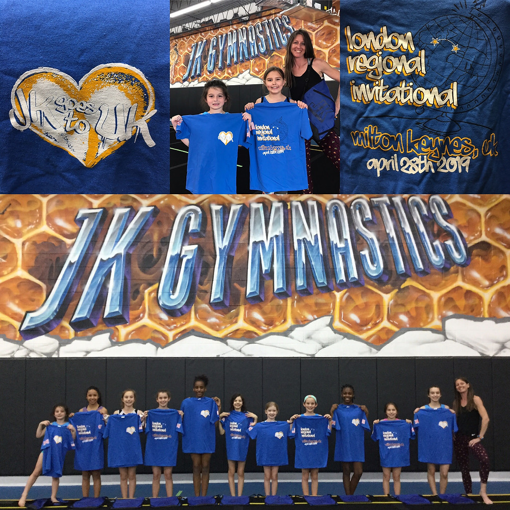 JK gymnast are heading to the UK for competition!  Can't wait for this big adventure!