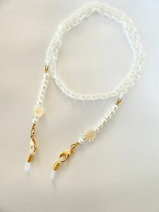 Brillen- / Maskenkette Pearl Flower