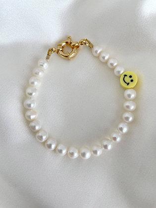 Perlenarmband Yellow Smiley
