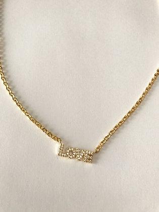 Halskette Zirconia Love Word
