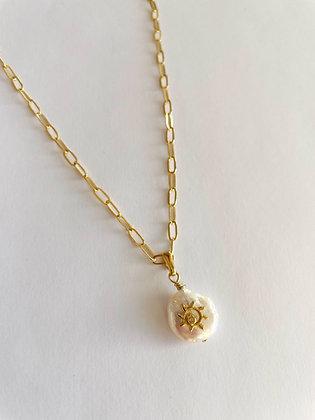 Halskette Pearl Sun