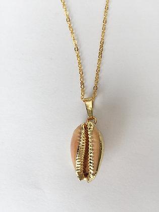 Halskette Cowrie brown/gold