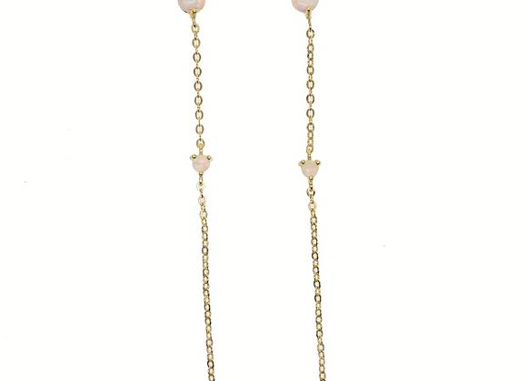 Opal Stone Drop Ohrringe