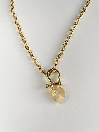 Halskette Beige Heart