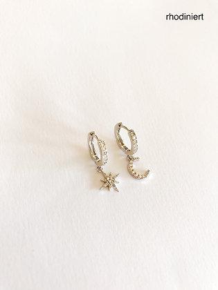 Ohrring Zirconia Silver