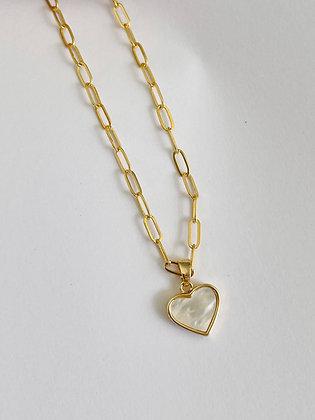 Halskette Seashell Heart