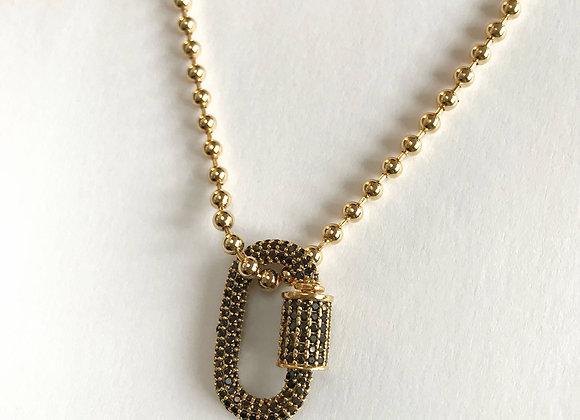 Halskette Black Clasp