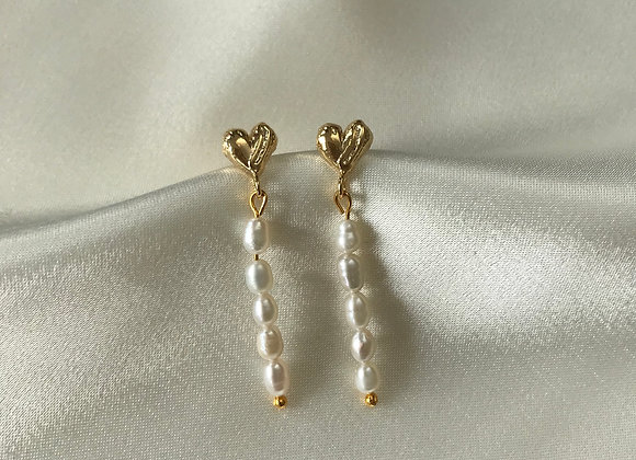 Ohrstecker Heart and Pearls