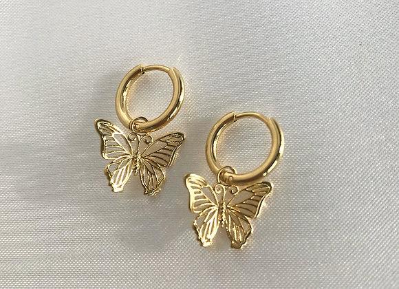 Hoops Butterfly Gold