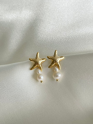 Ohrstecker Starfish and Pearls