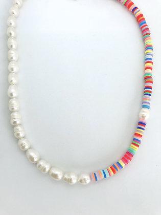 Halskette Pearls Rainbow