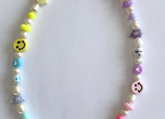 Halskette Smiley Pastel