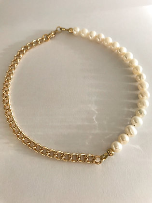 Fusskette Pearls and Chain